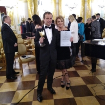 Dr n. med. Robert Gajda z partnerką Beatą Olszewską Marra